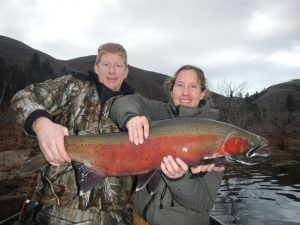 "Buffies First Steelhead 40"" - Feb. 13, 2013 - Tom Cats Steelhead Pictures Salmon Pictures"