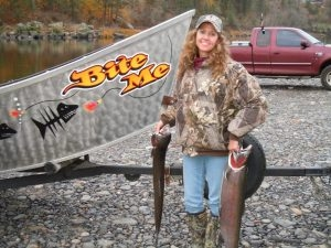 First Steelhead - Cheri - Tom Cats Steelhead Pictures Salmon Pictures