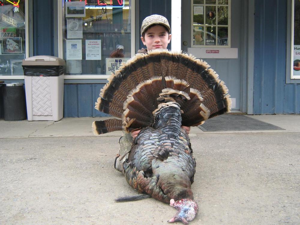 Cole Carter 1st Turkey age 10 - Tom Cats Idaho Whitetail Idaho Turkeys and Upland Birds