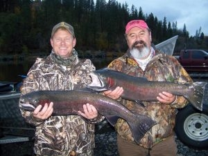 On the Clearwater - Matt & Skott - Tom Cats Steelhead Pictures Salmon Pictures