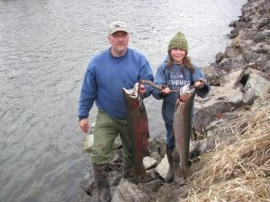Ron & Zarec - February 2013 - Tom Cats Steelhead Pictures Salmon Pictures
